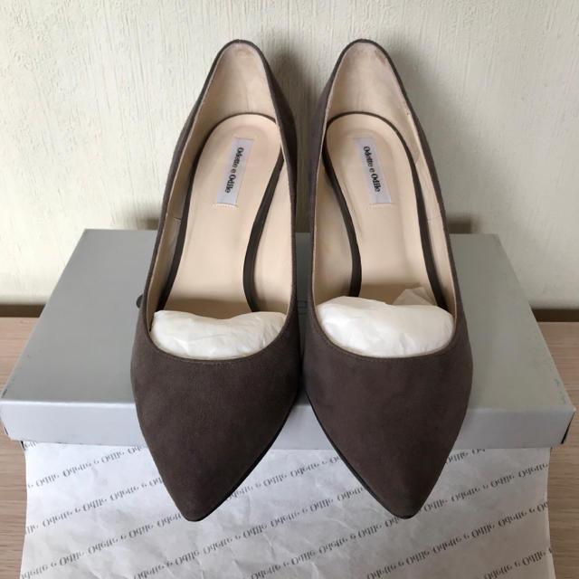 Odette e Odile(オデットエオディール)のOdette e Odile 7cmヒール スエード パンプス  レディースの靴/シューズ(ハイヒール/パンプス)の商品写真