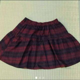 ローリーズファーム(LOWRYS FARM)のローリーズ 赤チェックスカート(ミニスカート)