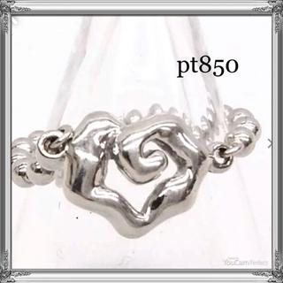 pt850   ハートリング  10号(リング(指輪))