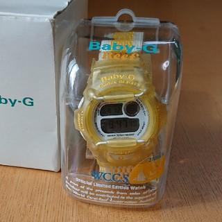 カシオ(CASIO)のCASIO baby-G カシオ ベビージー レディースキッズ腕時計 黄色(腕時計)