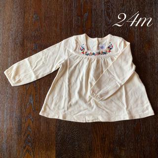 PETIT BATEAU - プチバトー  24m 86㎝ カットソー 刺繍