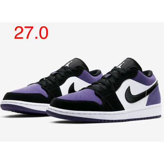 NIKE - 27.0 NIKE AIR JORDAN 1 LOW court purple