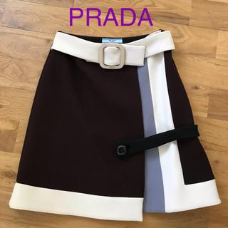 PRADA - PRADA カラーブロックスカート