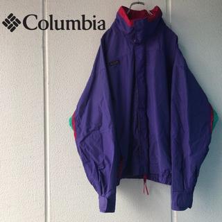 コロンビア(Columbia)の90s 白タグ Columbia コロンビア ナイロンジャケット(ナイロンジャケット)