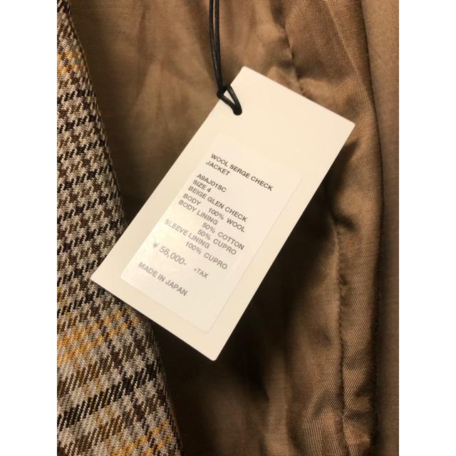 COMOLI(コモリ)のAURALEE 19AW オーラリー ウールサージチェックテーラードジャケット メンズのジャケット/アウター(テーラードジャケット)の商品写真