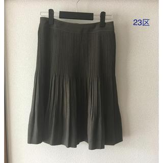 23区 - 23区スウェード風プリーツスカート 38 日本製 オンワード