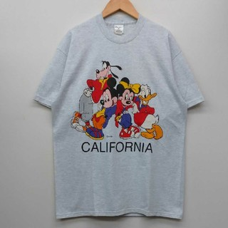 Disney - ミッキー ミニー グーフィー ドナルド ディズニー USA製 Tシャツ L