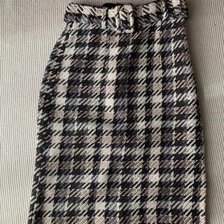 エージーバイアクアガール(AG by aquagirl)のAGbyaquagirl ツイードスカート(ひざ丈スカート)