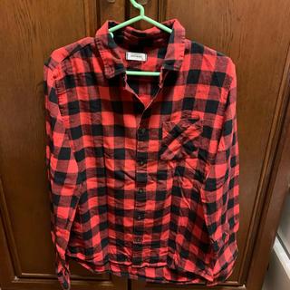 シャツ 赤 チェック(シャツ/ブラウス(長袖/七分))