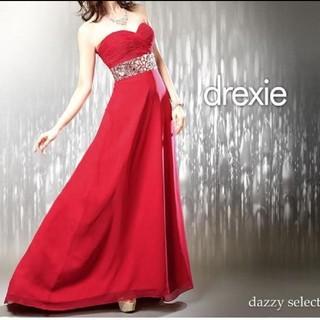 drexie ロングドレス 赤 (ロングドレス)
