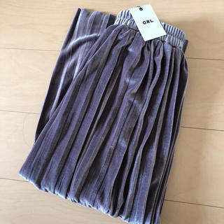 GRL - GRL ベロアプリーツスカート