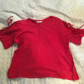 ★リボン袖 Tシャツ(Tシャツ(半袖/袖なし))