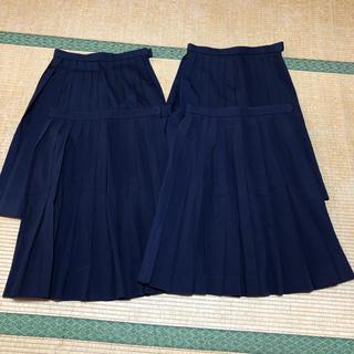 プリーツスカート 制服 夏用 冬用 計4枚