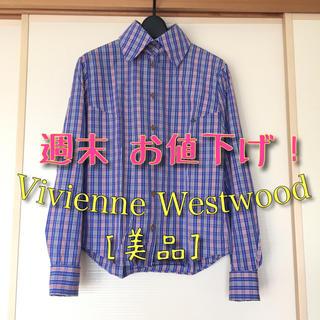 ヴィヴィアンウエストウッド(Vivienne Westwood)の【美品】Vivienne Westwood チェックシャツ 長袖シャツ シャツ(Tシャツ(長袖/七分))