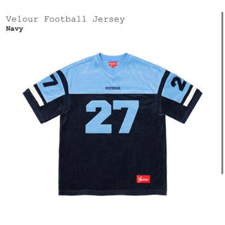 Supreme - Supreme Velour Football Jersey Navy XL