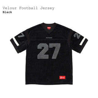 Supreme - Supreme Velour Football Jersey Black XL