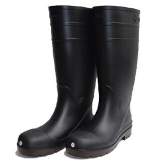 新品未使用 ゴム製安全長靴 鋼製先芯 26cm プロハークスマルゴ ブラック(長靴/レインシューズ)