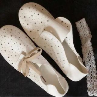 星 靴 ホワイト  スター シューズ(その他)