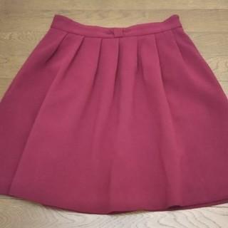 インデックス(INDEX)のインデックス*ワインレッドの大人かわいいスカート(ひざ丈スカート)