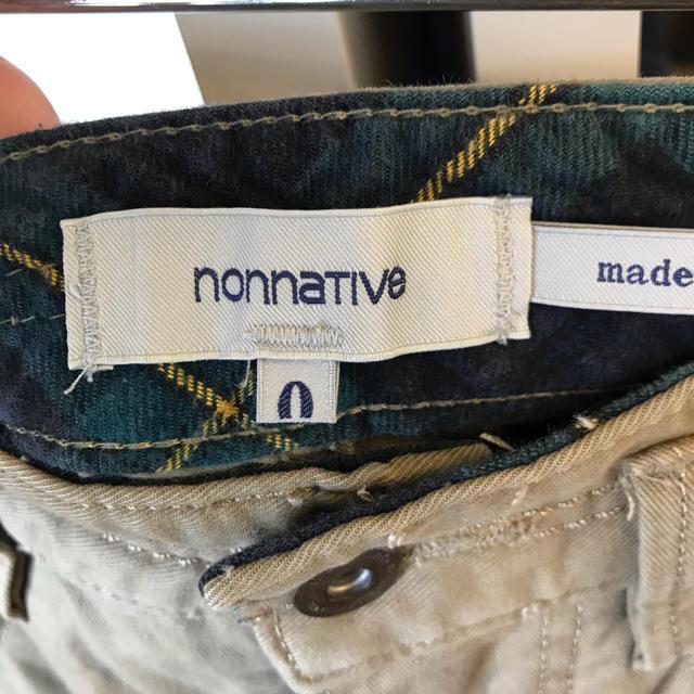 nonnative(ノンネイティブ)のnonnative ノンネイティブ チノパン サイズ0 メンズのパンツ(ワークパンツ/カーゴパンツ)の商品写真