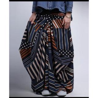 antiqua - antiqua 変形ロングスカート