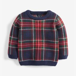 NEXT - 【新品未使用】NEXT 70 75 80 チェック レッド セーター