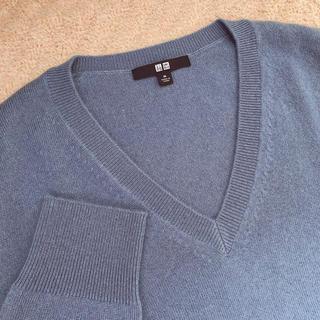 UNIQLO - ユニクロ♡カシミヤ100%Vネックセーター