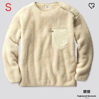 エンジニアードガーメンツ(Engineered Garments)のUNIQLO×engineered garments フリースプルオーバー 白S(スウェット)