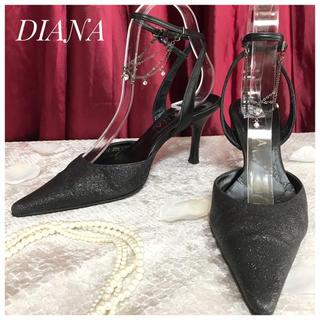 ダイアナ(DIANA)の【DIANA】ダイアナ グリッター アングレット パンプス ミュール ヒール(ハイヒール/パンプス)