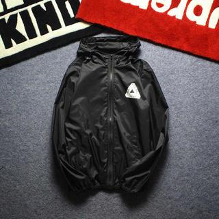 大人気! PALACE ナイロンジャケットパーカー 黒 XL 男女兼用(ナイロンジャケット)