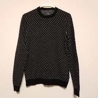 エイチアンドエム(H&M)のH&M ドット コットン セーター 黒×白 170/92A S P メンズ(ニット/セーター)