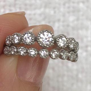 プラチナ ミルウチ ダイヤモンド リング(リング(指輪))