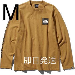 ザノースフェイス(THE NORTH FACE)の即日発送!Mサイズ ノースフェイス L/S Square Logo Tee BK(Tシャツ/カットソー(半袖/袖なし))