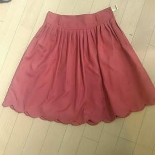 レストローズ(L'EST ROSE)のレストローズ 新品 裾加工スカート(ひざ丈スカート)