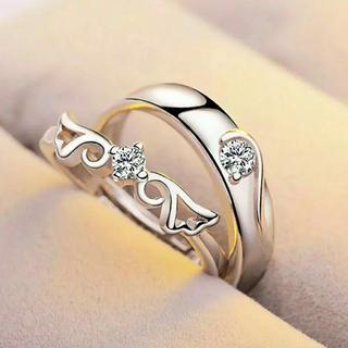 ✨定価4580円✨ 天使の羽 ペア CZ ダイヤ セット フリーサイズ