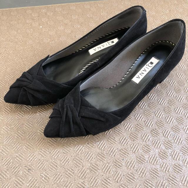 DIANA(ダイアナ)のDIANA黒シューズ22.5cm レディースの靴/シューズ(ハイヒール/パンプス)の商品写真