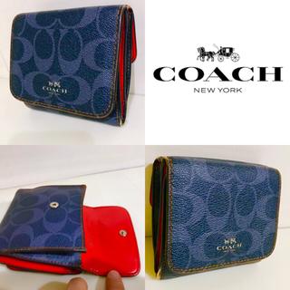 COACH - 58650円【デニムカラー】コーチ COACH 財布 三つ折り シグネチャー