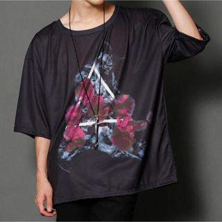 LAD MUSICIAN - PUBLIC EYES 総柄グラフィックビッグTシャツ