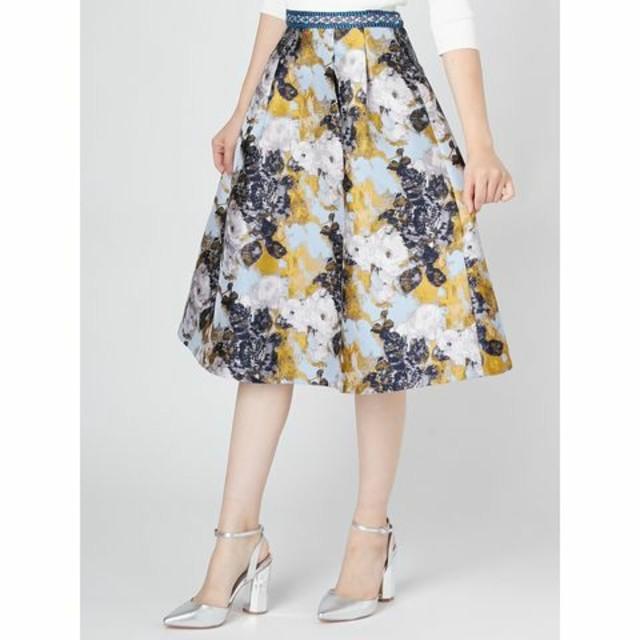 MERCURYDUO(マーキュリーデュオ)のMERCURYDUO*ジャガードタックスカート レディースのスカート(ひざ丈スカート)の商品写真