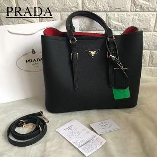 プラダ(PRADA)の美品 PRADA トートバッグ ショルダーバッグ 両用可能(ショルダーバッグ)