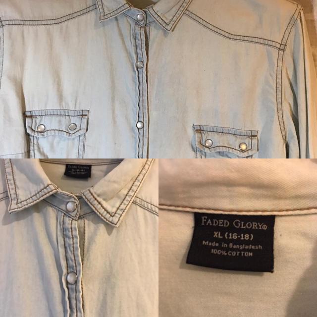 FADED GLORY デニムシャツ メンズのトップス(シャツ)の商品写真