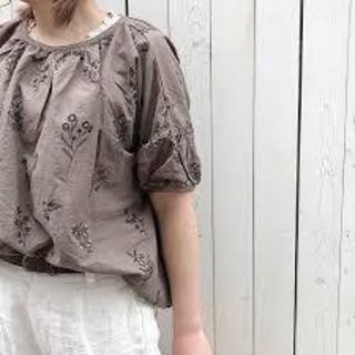 SM2 - SM2*TUHARU*綿麻刺繍パフスリーブブラウス