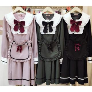 アマベル(Amavel)のAMAVEL猫耳エプロンワンピース ハロウィン衣装(ミニワンピース)