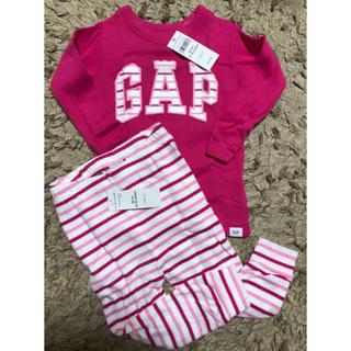 ベビーギャップ(babyGAP)の新品 babyGAP 女の子 ピンク 長袖 パジャマ  80cm 綿100%(パジャマ)