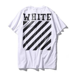オフホワイト(OFF-WHITE)のOFF WHITE オフホワイト Tシャツ 半袖 サイズXL 白(Tシャツ/カットソー(半袖/袖なし))