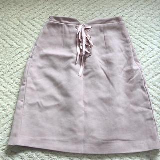ByeBye - ByeBye リボン編み上げ スカート ピンク
