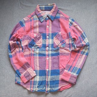 デニムダンガリー(DENIM DUNGAREE)のデニム&ダンガリー  チェック ネルシャツ 150(ブラウス)