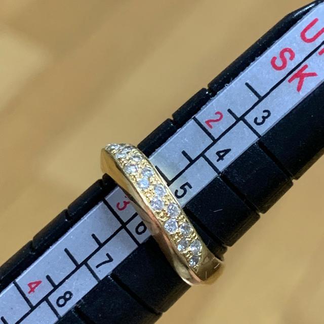 ダイヤK18 ピンキーリング レディースのアクセサリー(リング(指輪))の商品写真