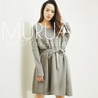 ムルーア(MURUA)の新品MURUAスーパールーズミニワンピースニットzaramoussyslykbf(ミニワンピース)