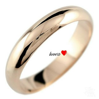 送料無料 21号 ピンクゴールド サージカルステンレス シンプル甲丸リング 指輪(リング(指輪))